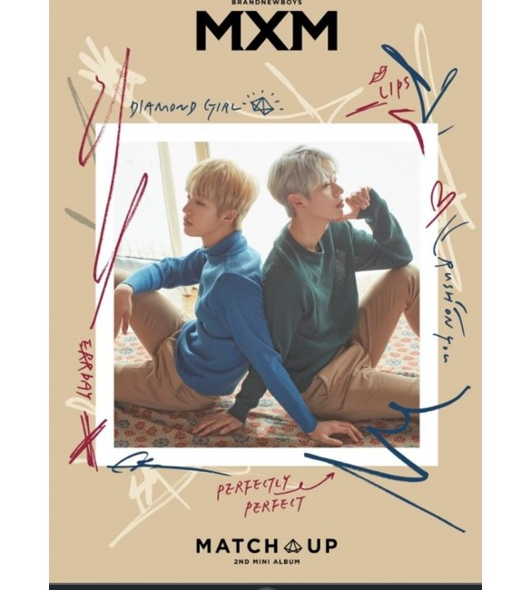 MXM (BRANDNEW BOYS) 2ND MINI ALBUM - MATCH UP (X VER.)