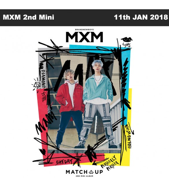 MXM (BRANDNEW BOYS) 2ND MINI ALBUM - MATCH UP (M VER.)